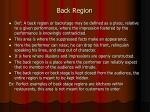 back region