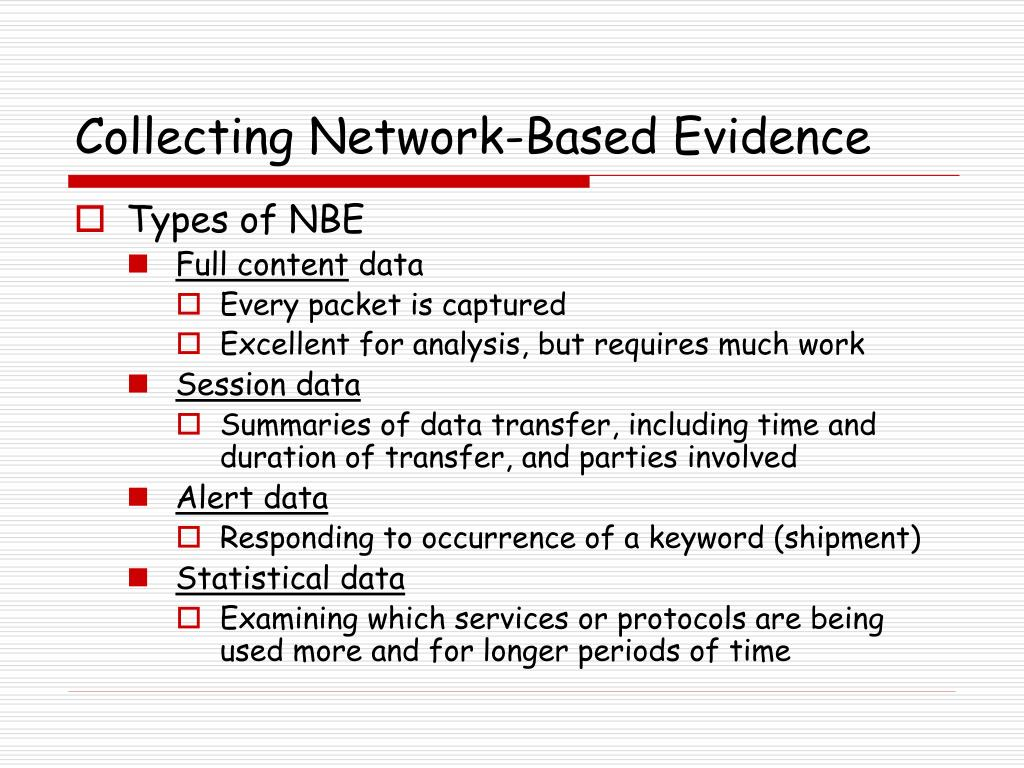 Collecting Network-Based Evidence