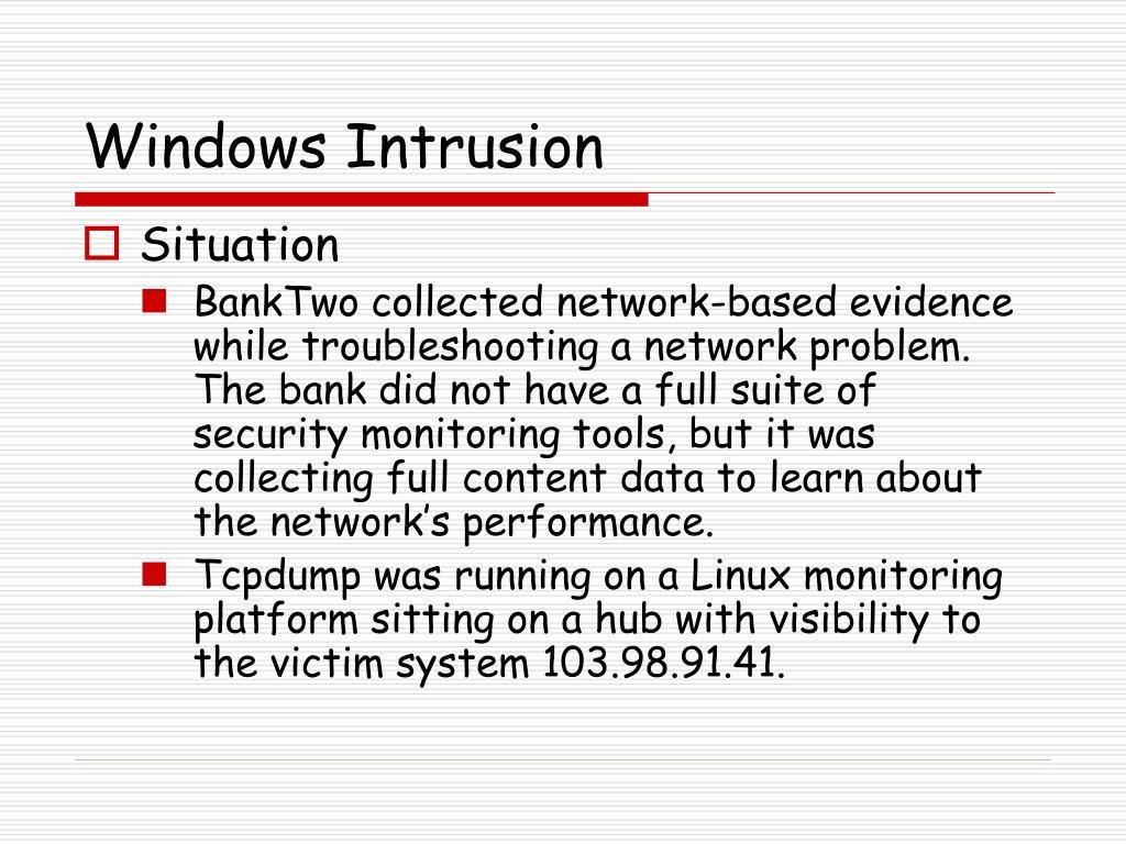Windows Intrusion