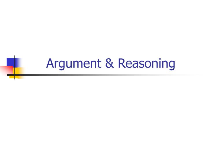Argument reasoning