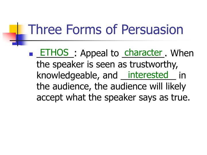 Three forms of persuasion