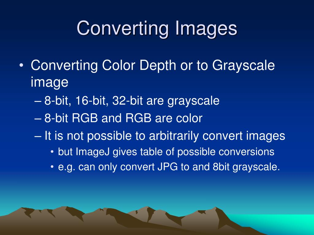 Converting Images