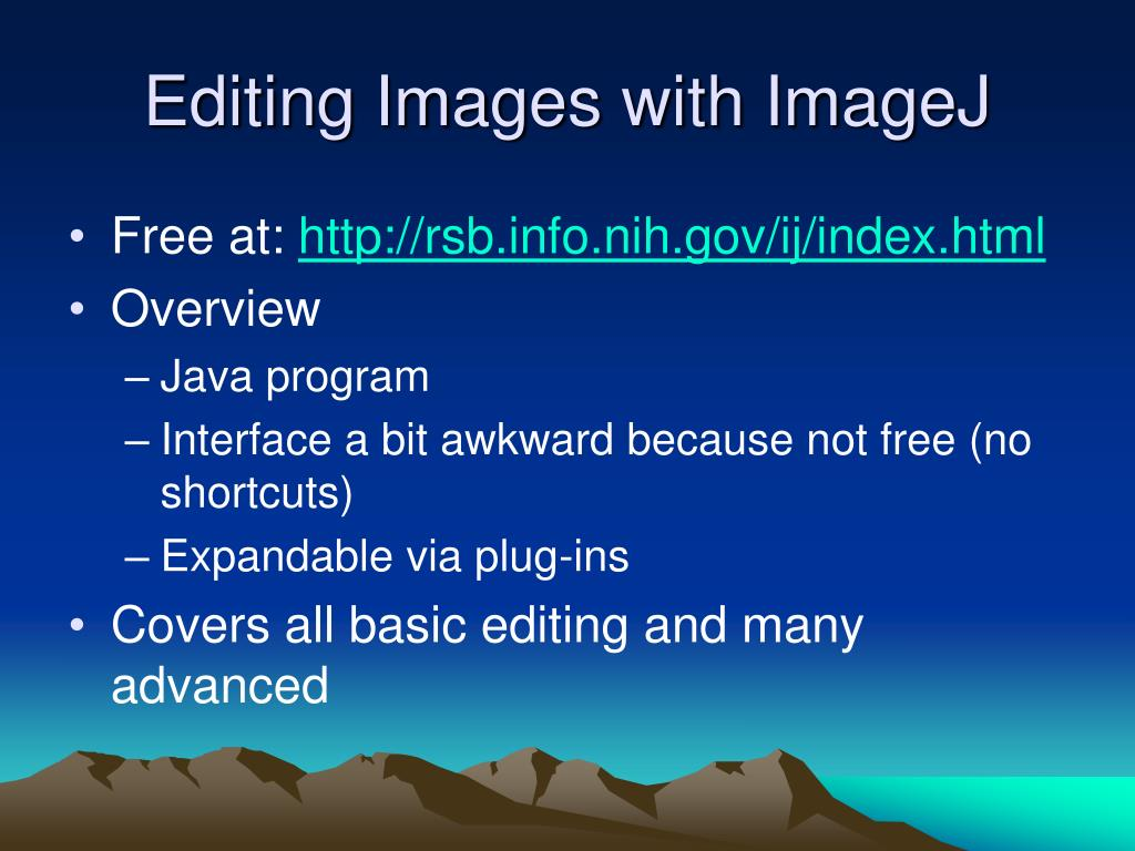 Editing Images with ImageJ
