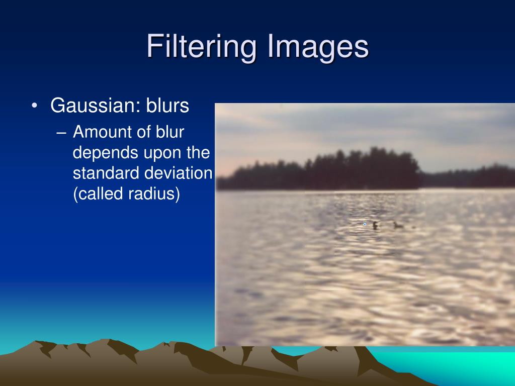 Filtering Images