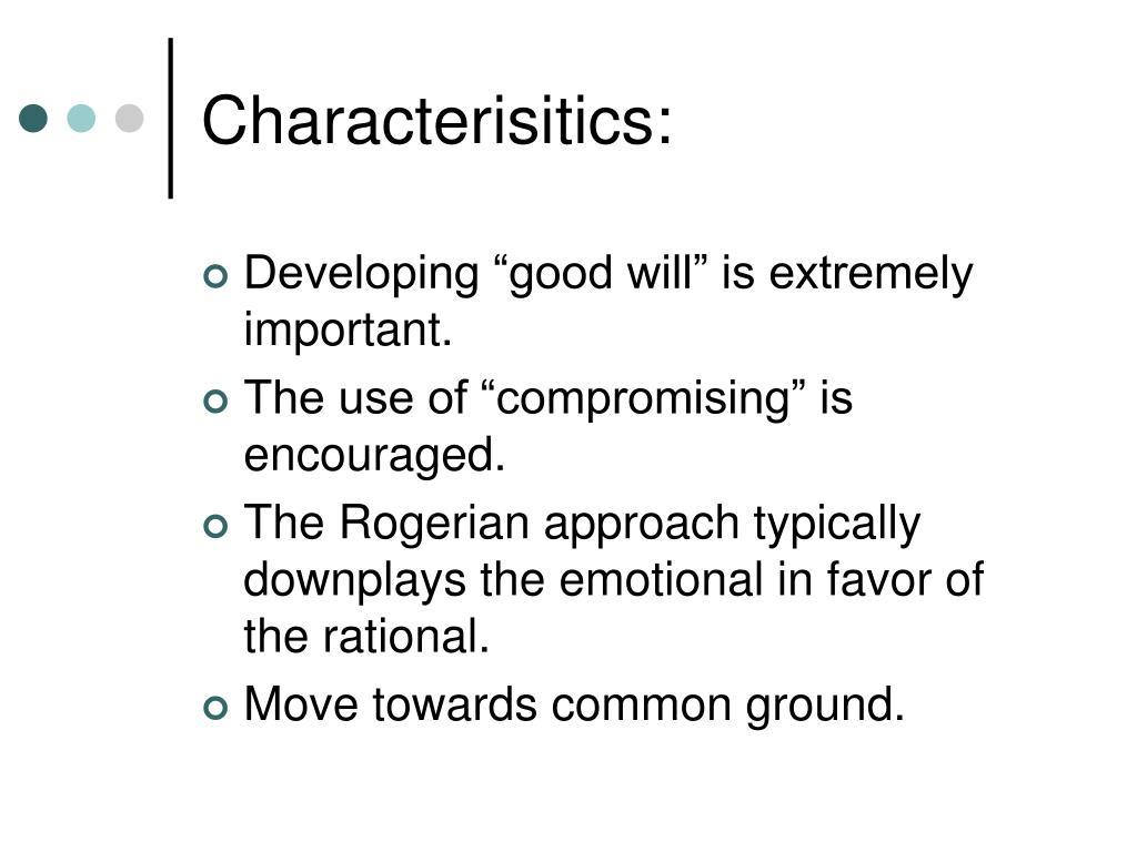 Characterisitics: