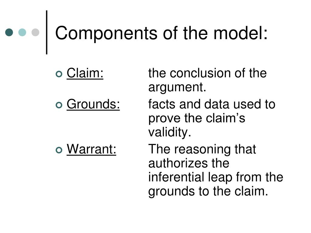 Components of the model: