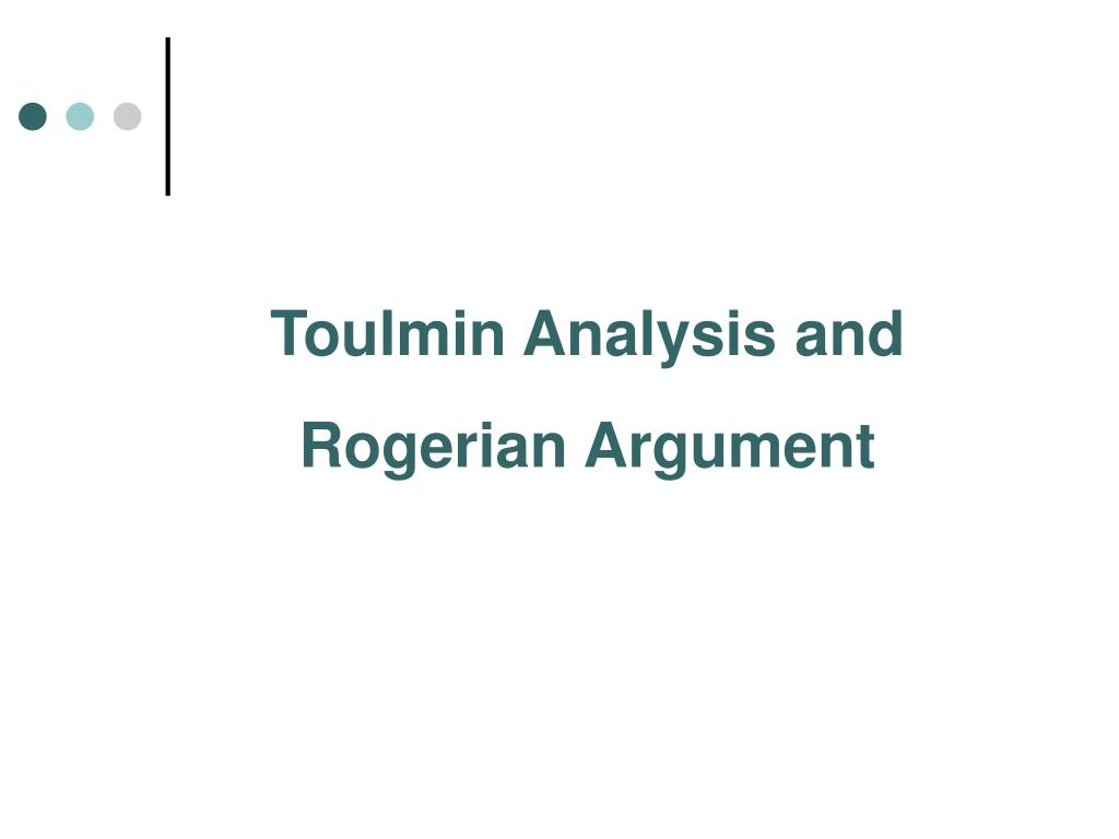 Toulmin Analysis and