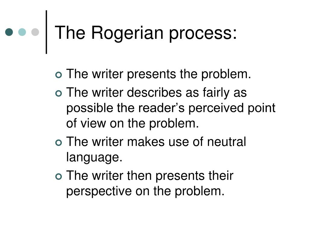 The Rogerian process: