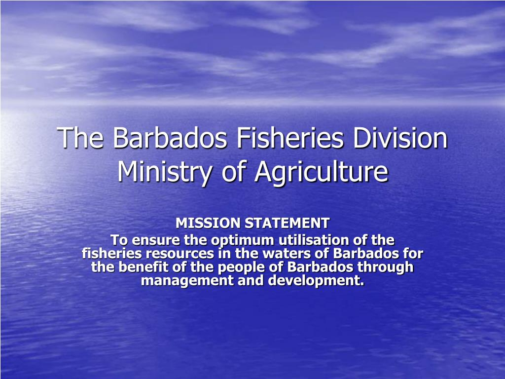 the barbados fisheries division ministry of agriculture