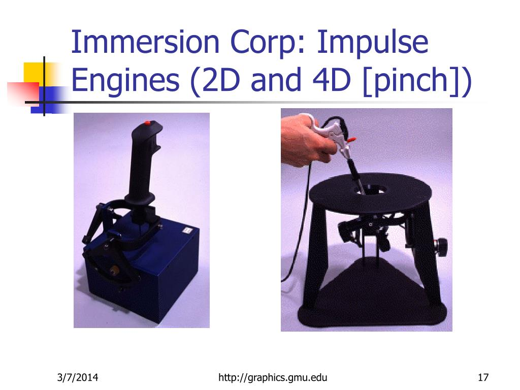 Immersion Corp: Impulse Engines (2D and 4D [pinch])