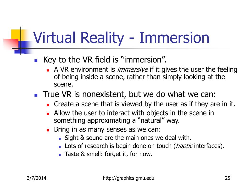Virtual Reality - Immersion
