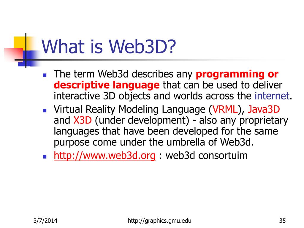 What is Web3D?