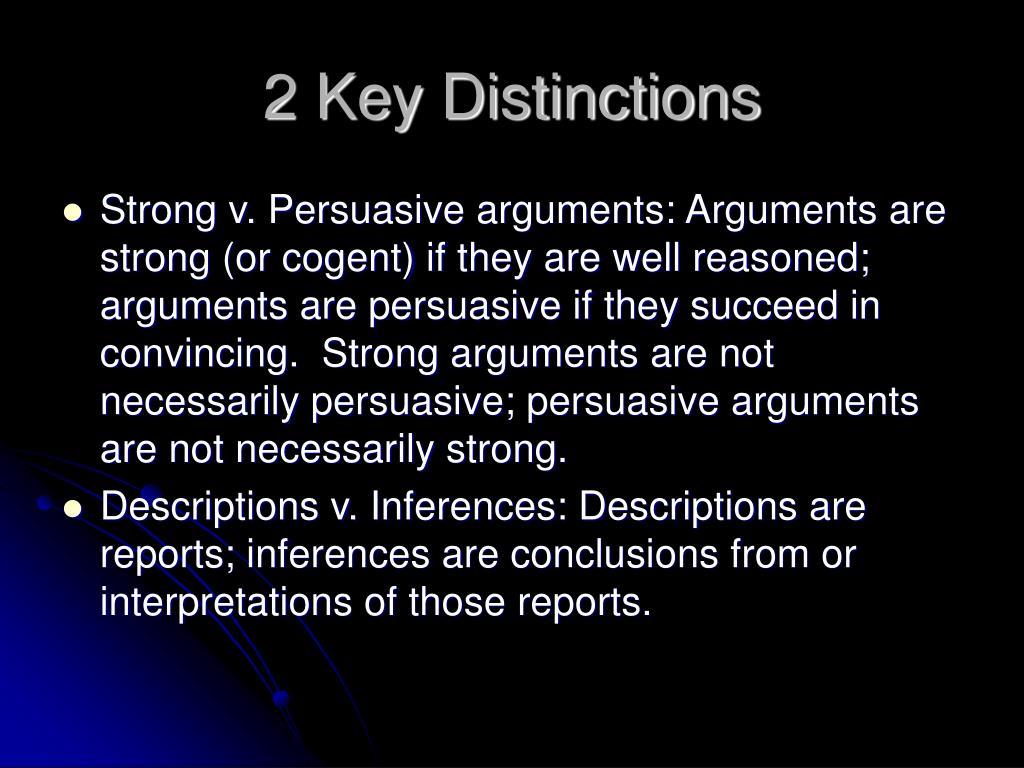 2 Key Distinctions