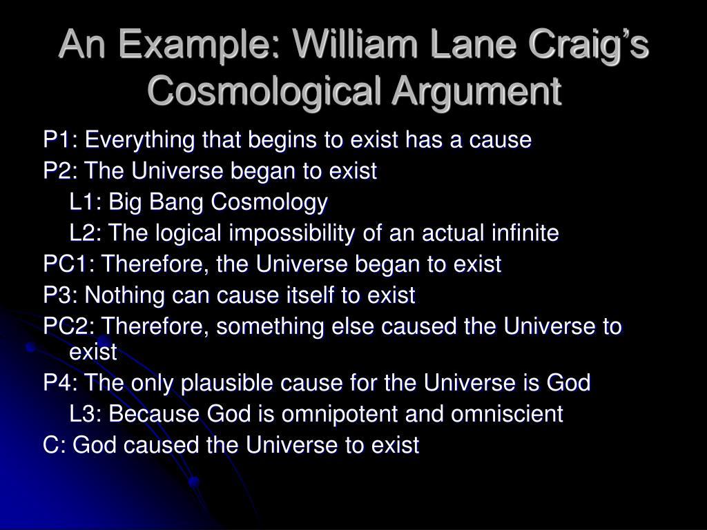 An Example: William Lane Craig's Cosmological Argument