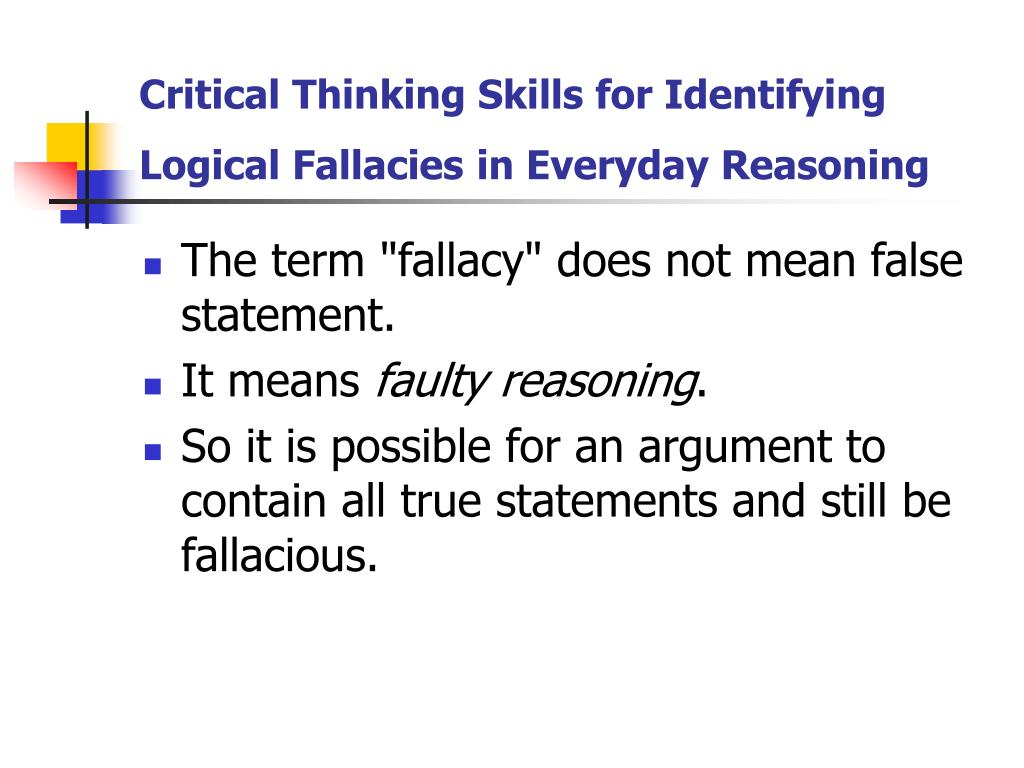 Critical Thinking Skills for Identifying Logical Fallacies