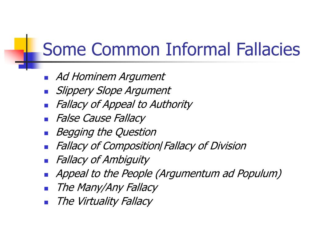 Some Common Informal Fallacies