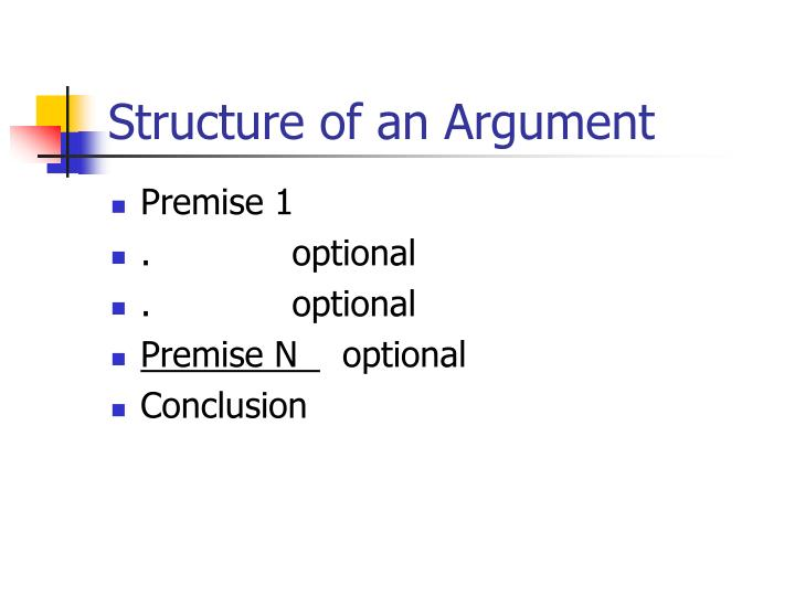 Structure of an argument