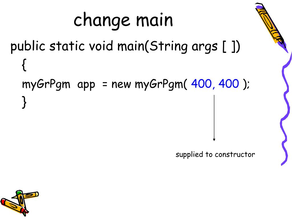 change main