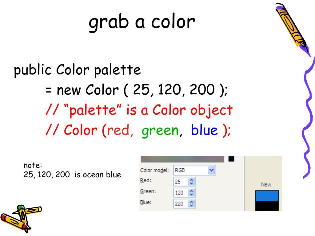 grab a color