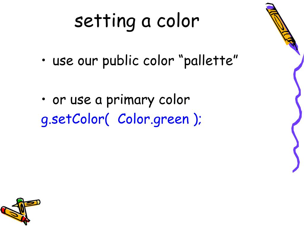 setting a color