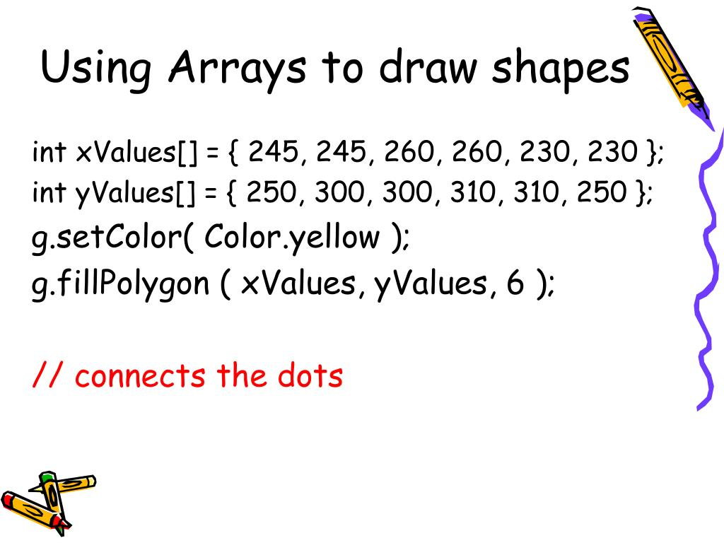 Using Arrays to draw shapes