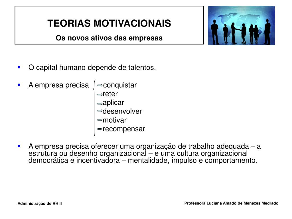 O capital humano depende de talentos.