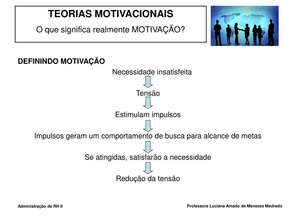 DEFININDO MOTIVAÇÃO
