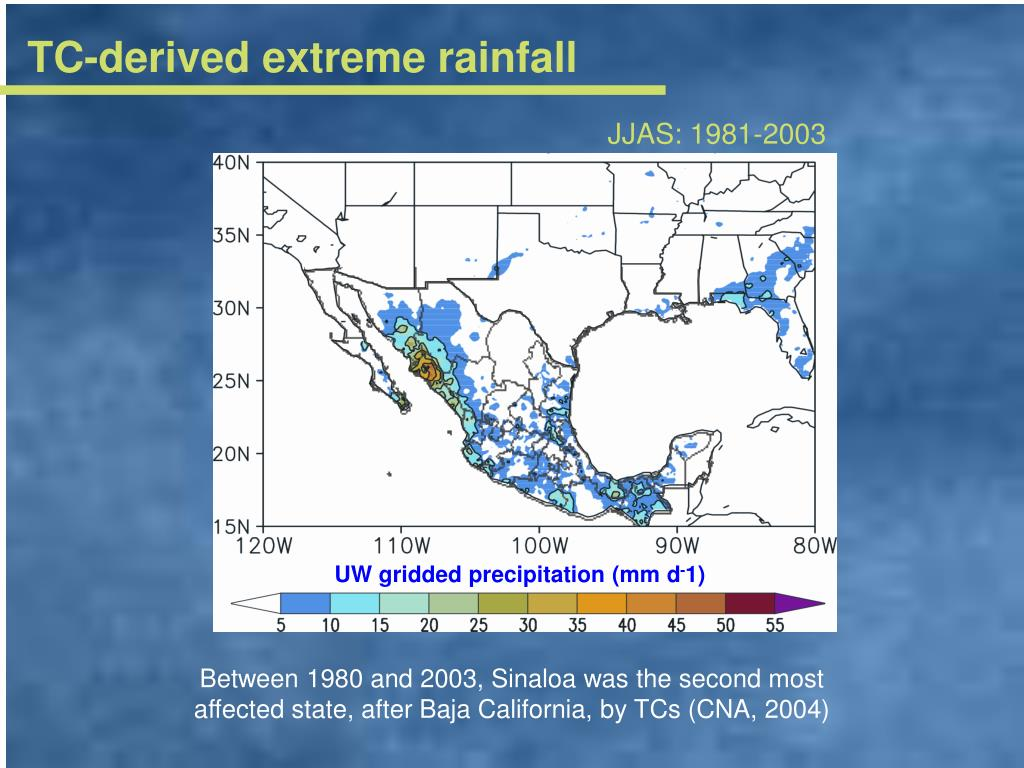 TC-derived extreme rainfall