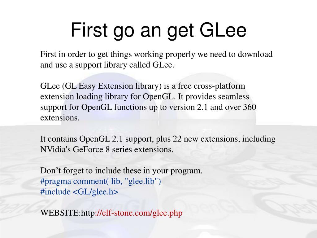 First go an get GLee