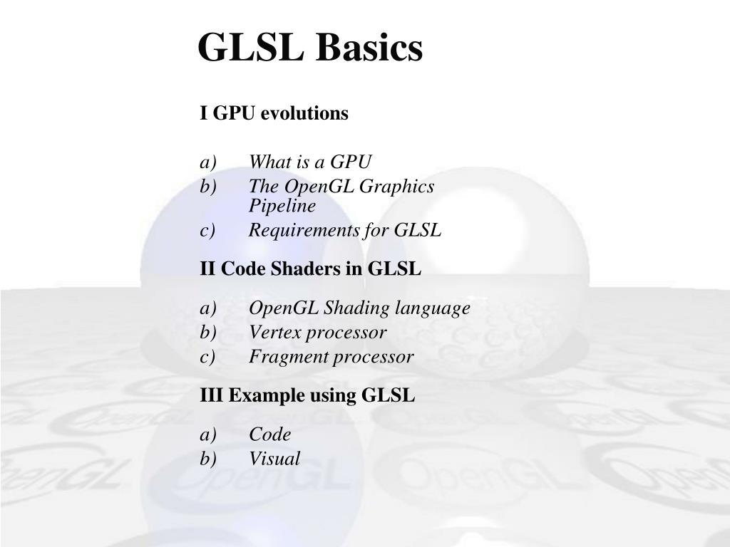 GLSL Basics