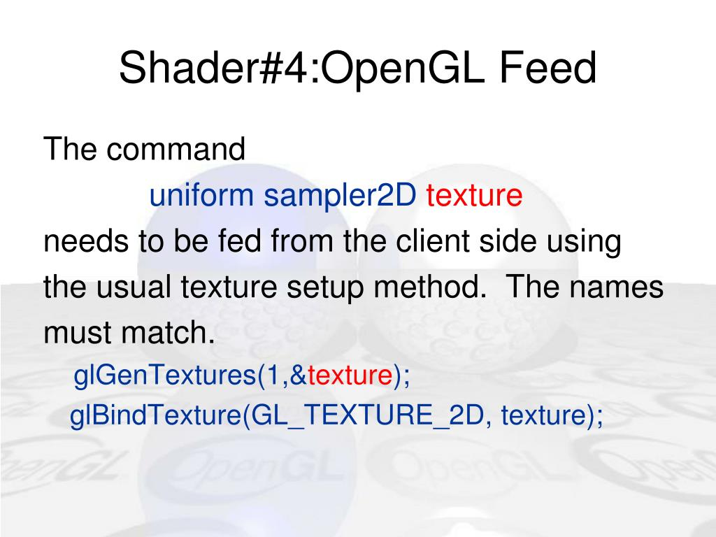 Shader#4:OpenGL Feed