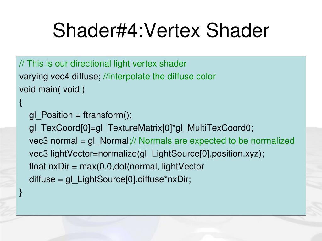 Shader#4:Vertex Shader