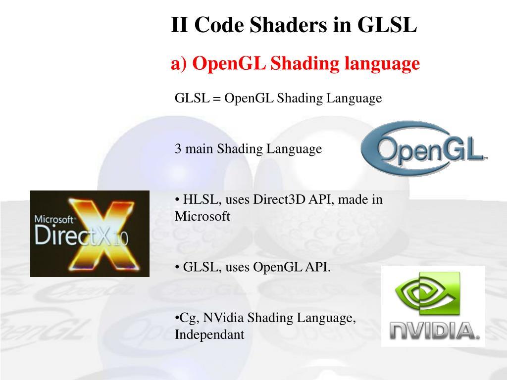 II Code Shaders in GLSL
