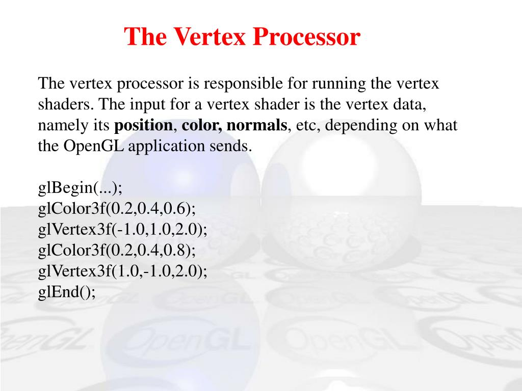 The Vertex Processor