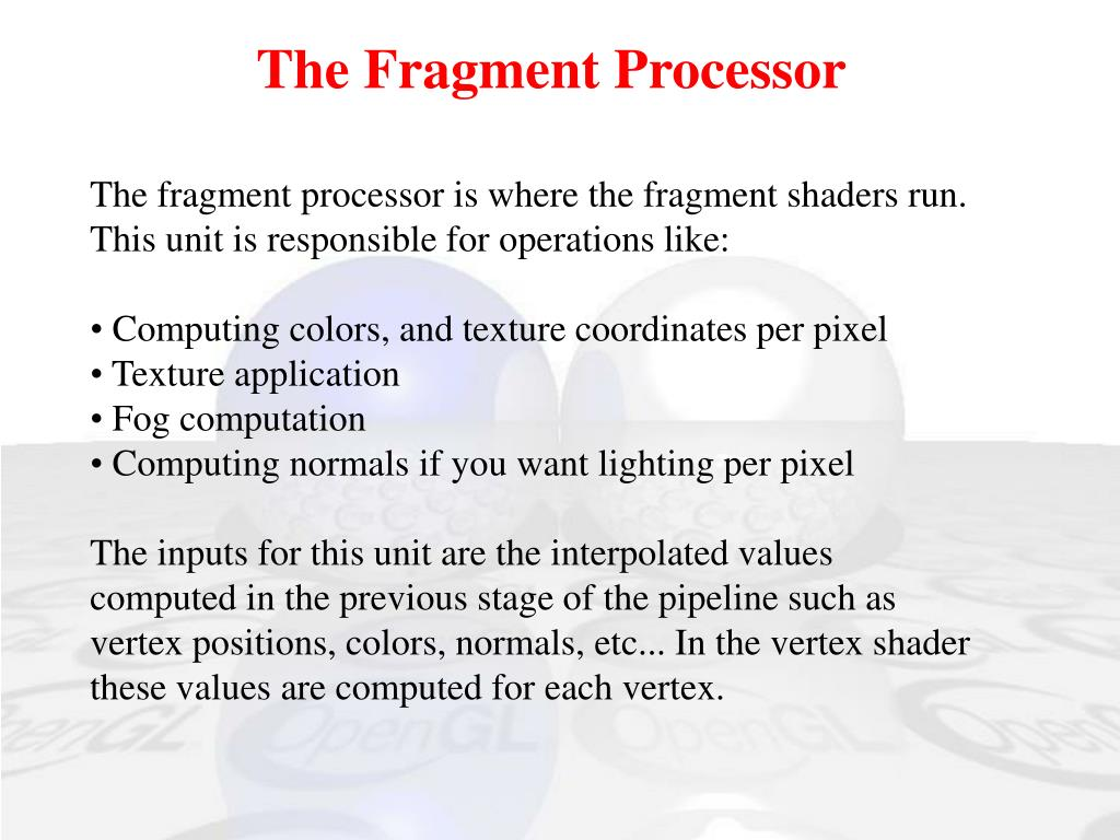 The Fragment Processor