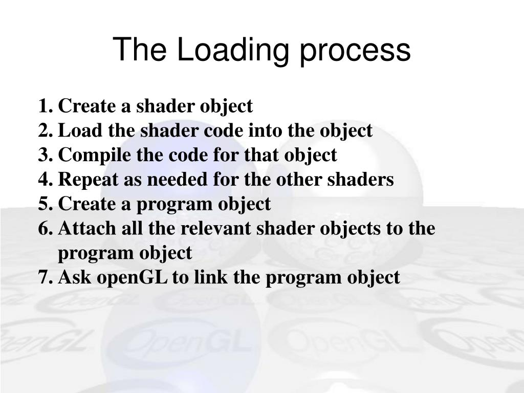 The Loading process