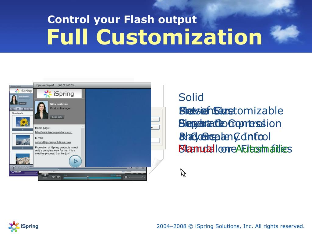 Control your Flash output