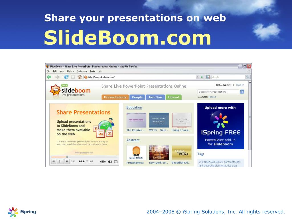 Share your presentations on web