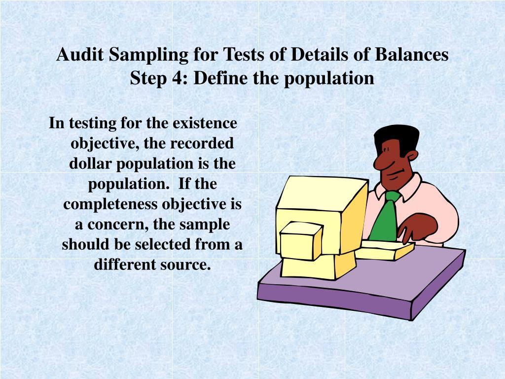 Audit Sampling for Tests of Details of Balances