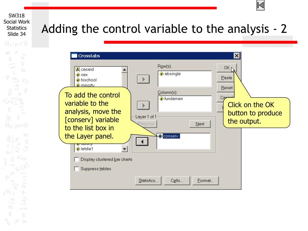Adding the control variable to the analysis - 2