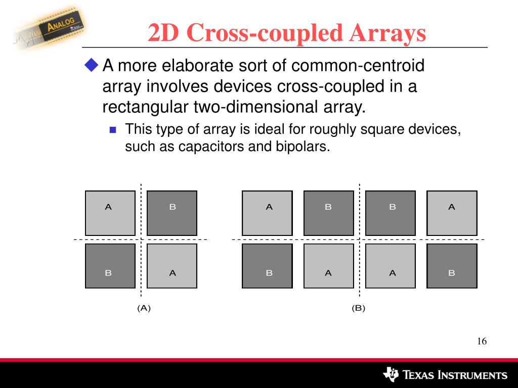 2D Cross-coupled Arrays