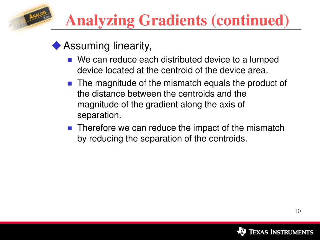 Analyzing Gradients (continued)