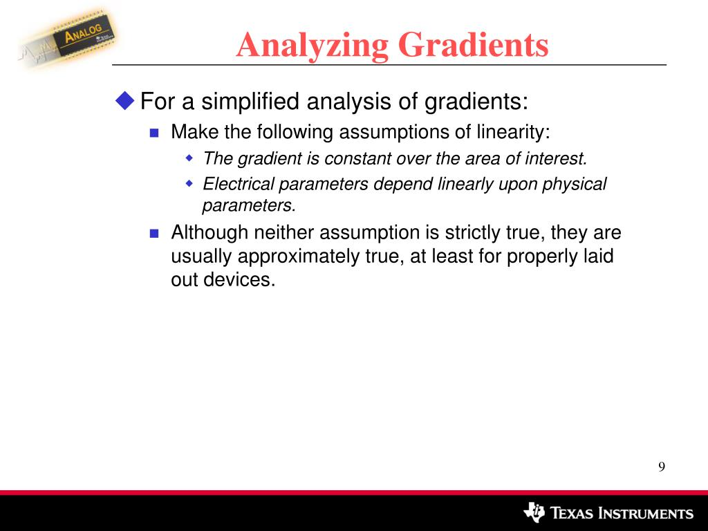 Analyzing Gradients