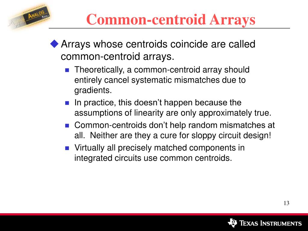 Common-centroid Arrays