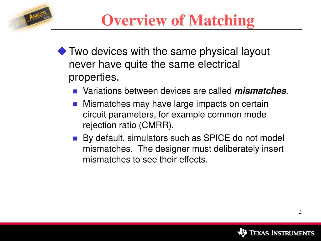 Overview of Matching
