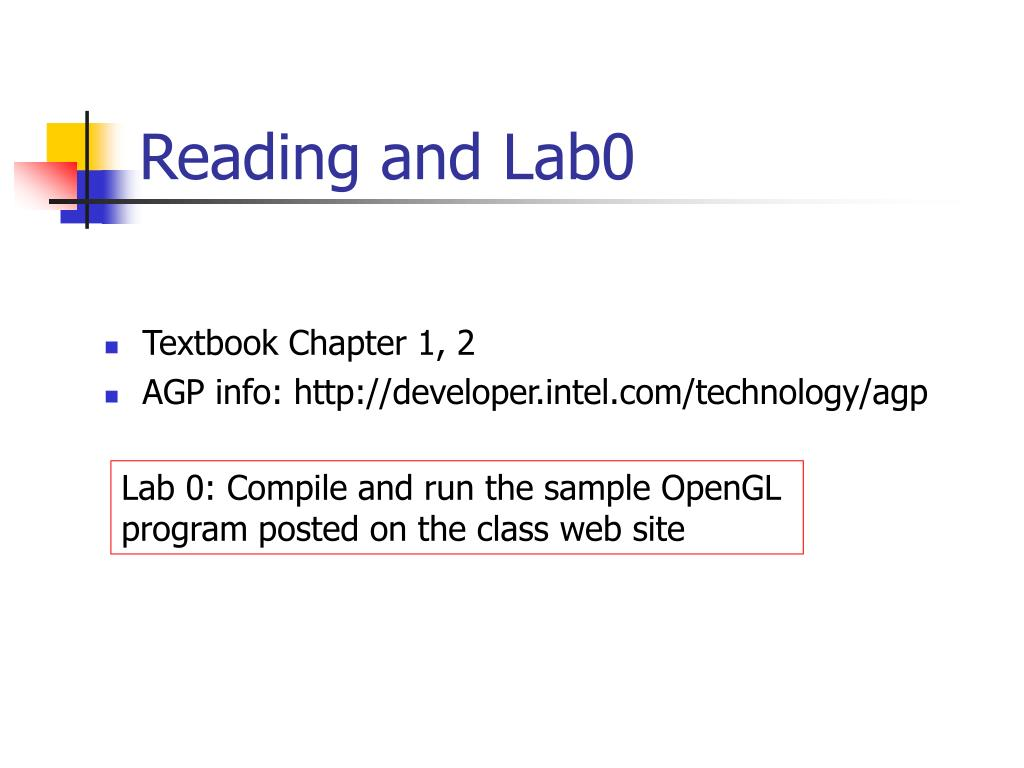 Reading and Lab0