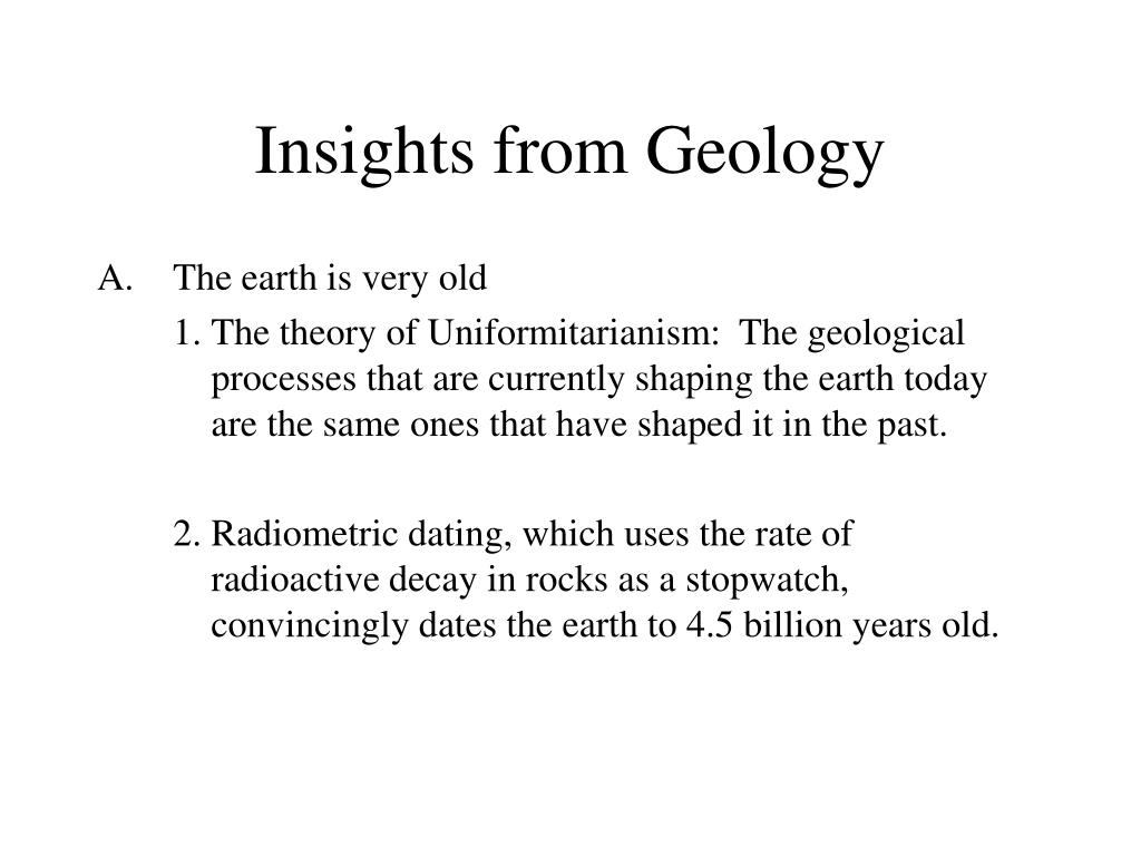 Insights from Geology