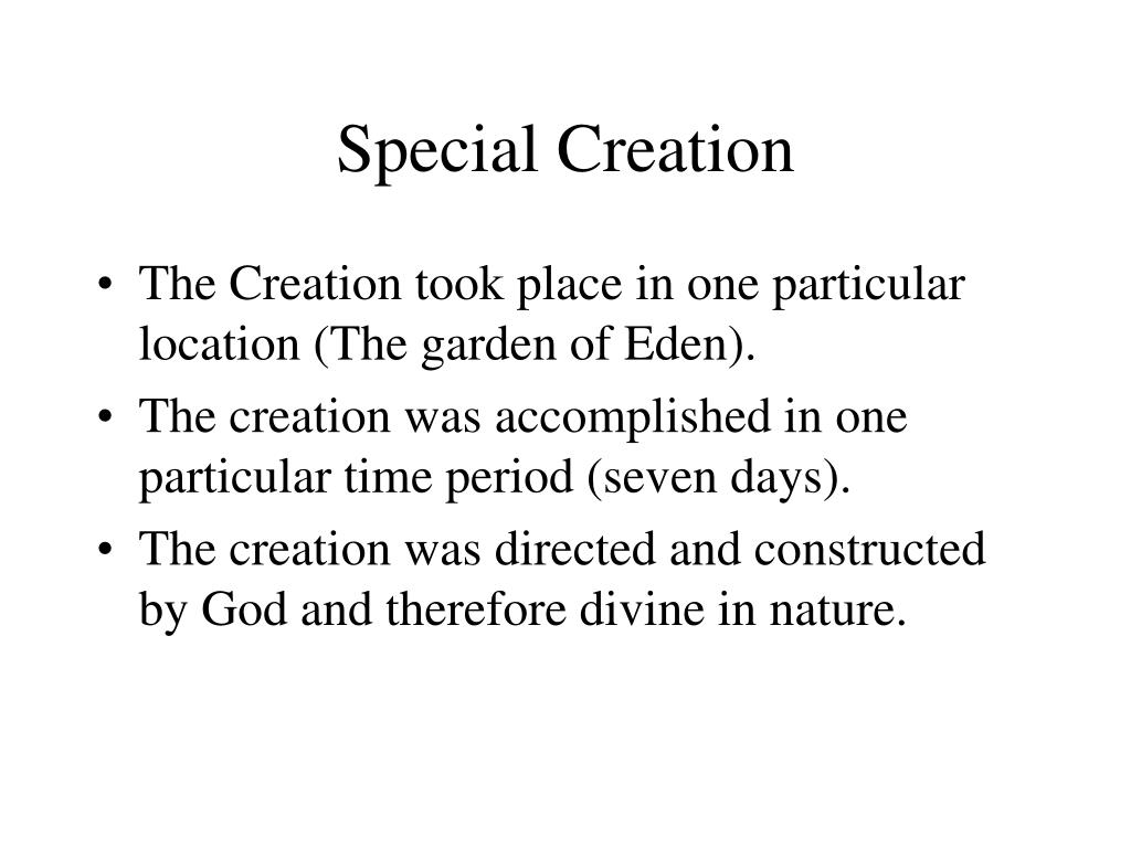 Special Creation