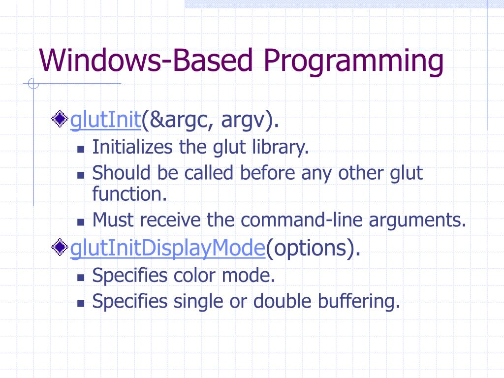 Windows-Based Programming