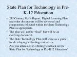 state plan for technology in pre k 12 education10